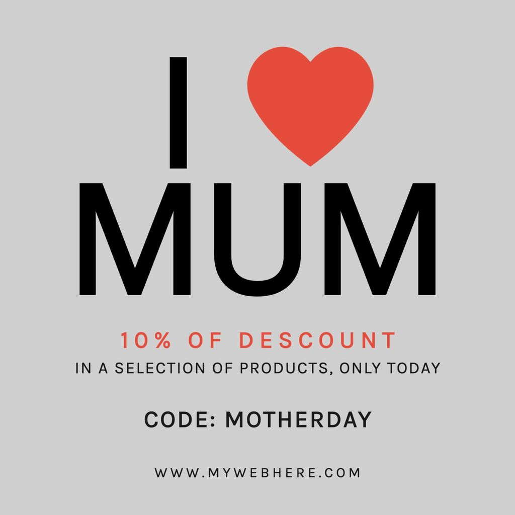 I love Mum Mothers day template