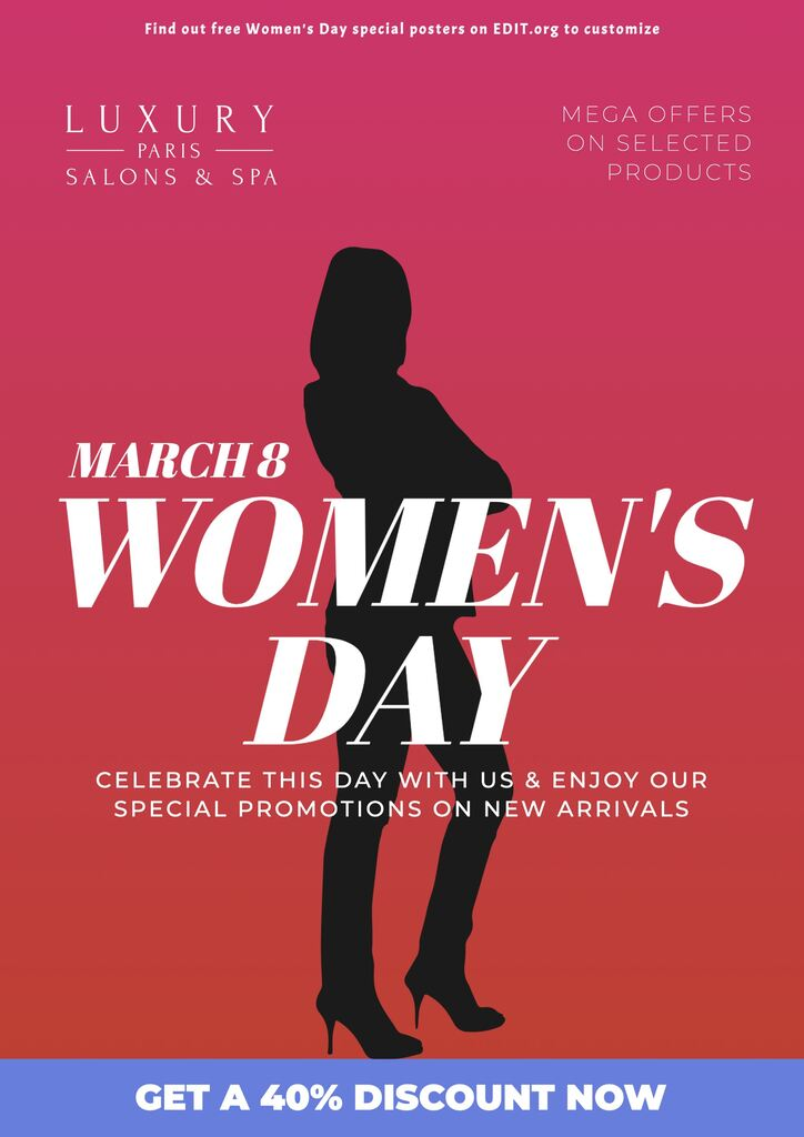 Customizable happy International Women's Day cards and posters