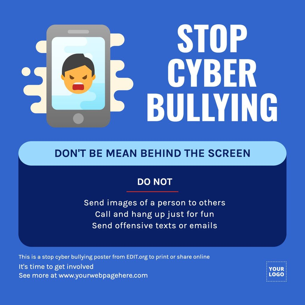 Editable bullying and harassment posters to print