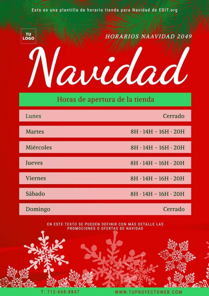 Carteles de apertura para negocios en Navidad