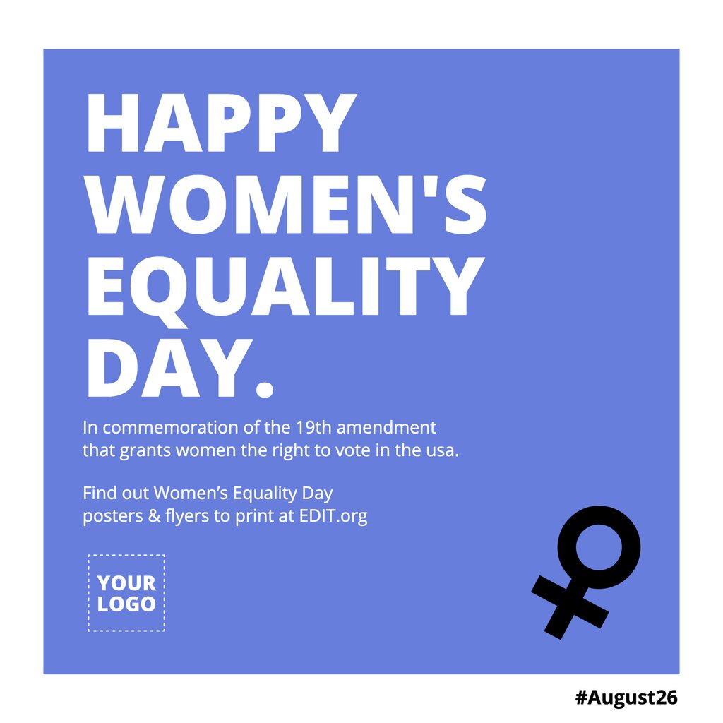 Free template about Women's Equality Day