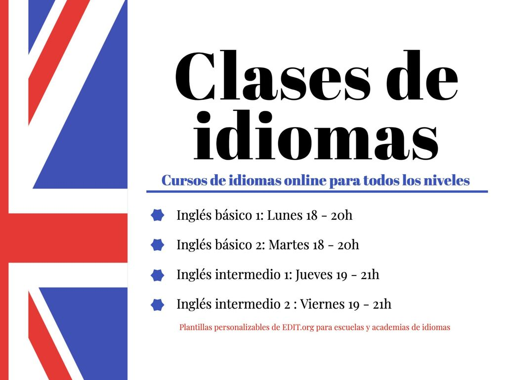 Disenos Para Anuncios De Clases Y Cursos De Idiomas