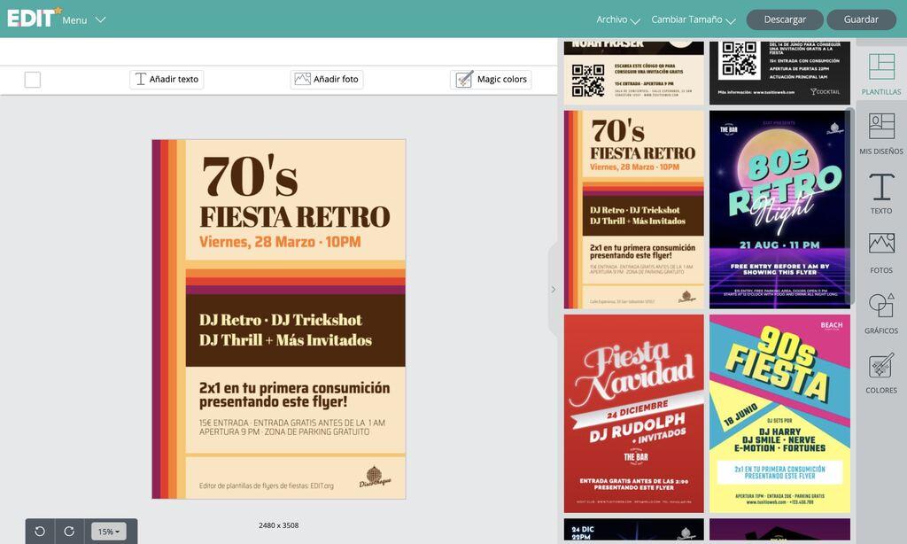 Editor online de flyers de fiestas gratis EDIT.org