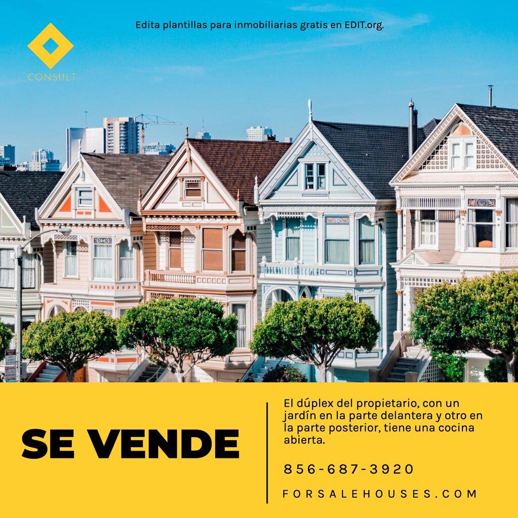 Plantillas de real estate gratis para editar