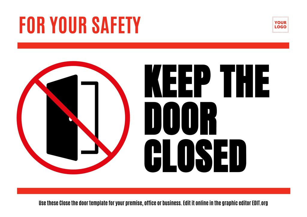 Close the door free sign template to edit online for free