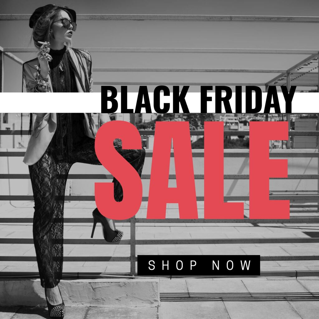 Black Friday fashion store editable template