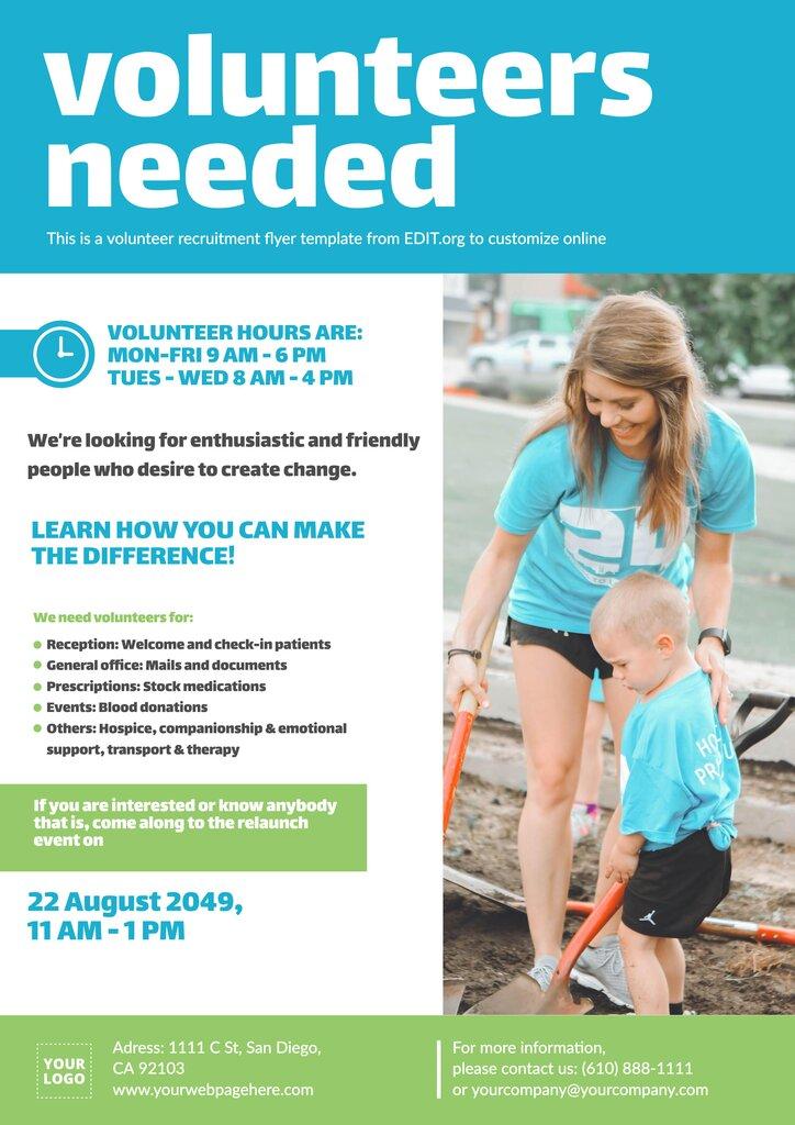 Free volunteering flyer template