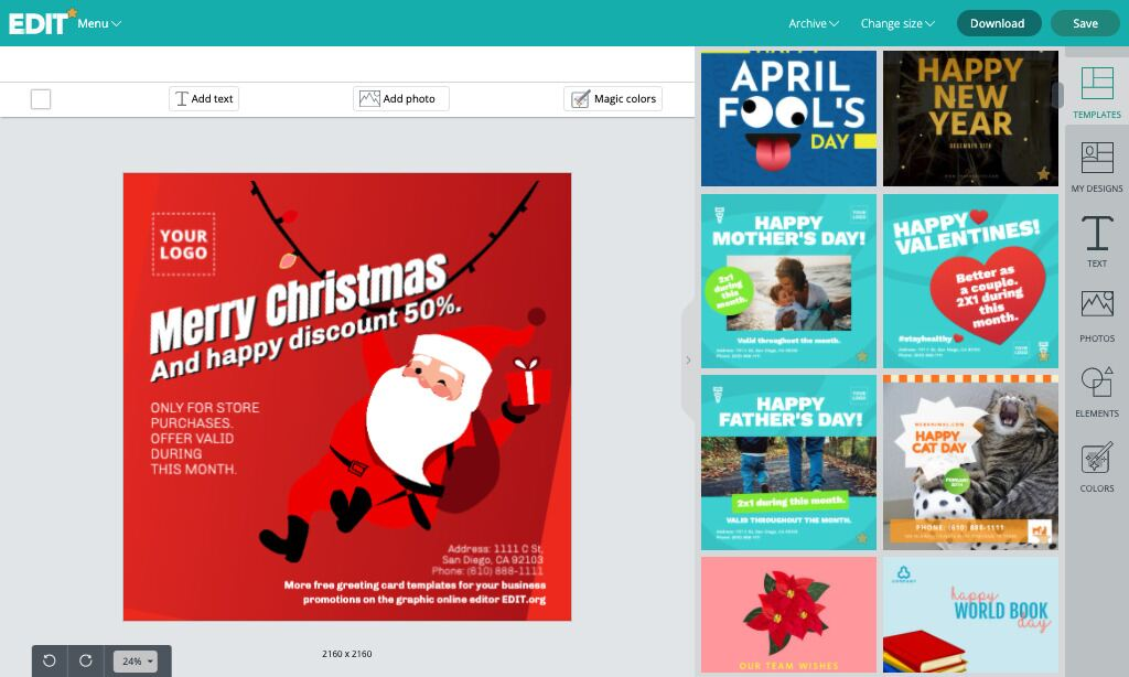 Greeting and congratulation cards and ecards templates maker and editor online for free