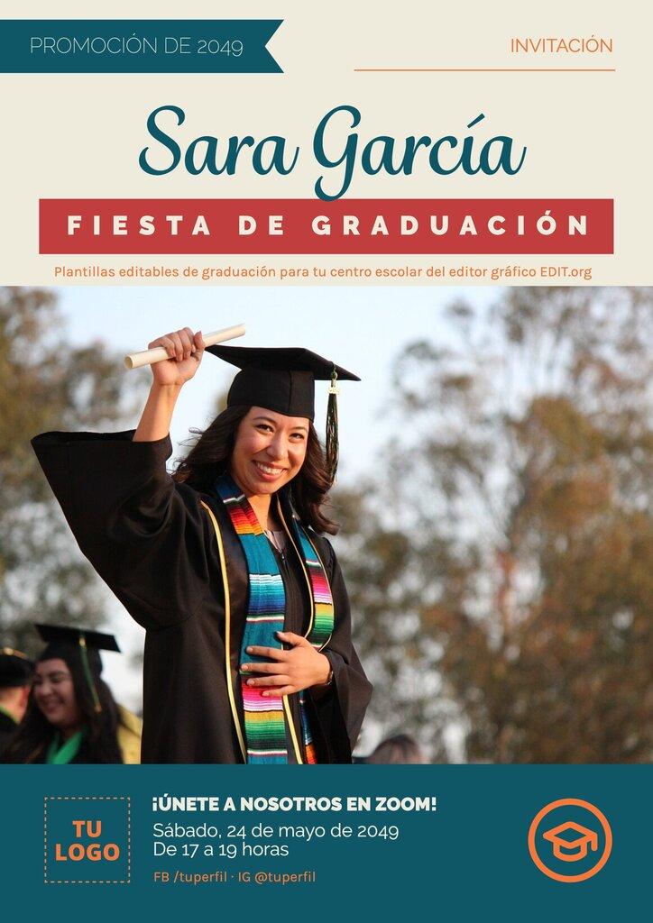 Póster para graduación personalizable
