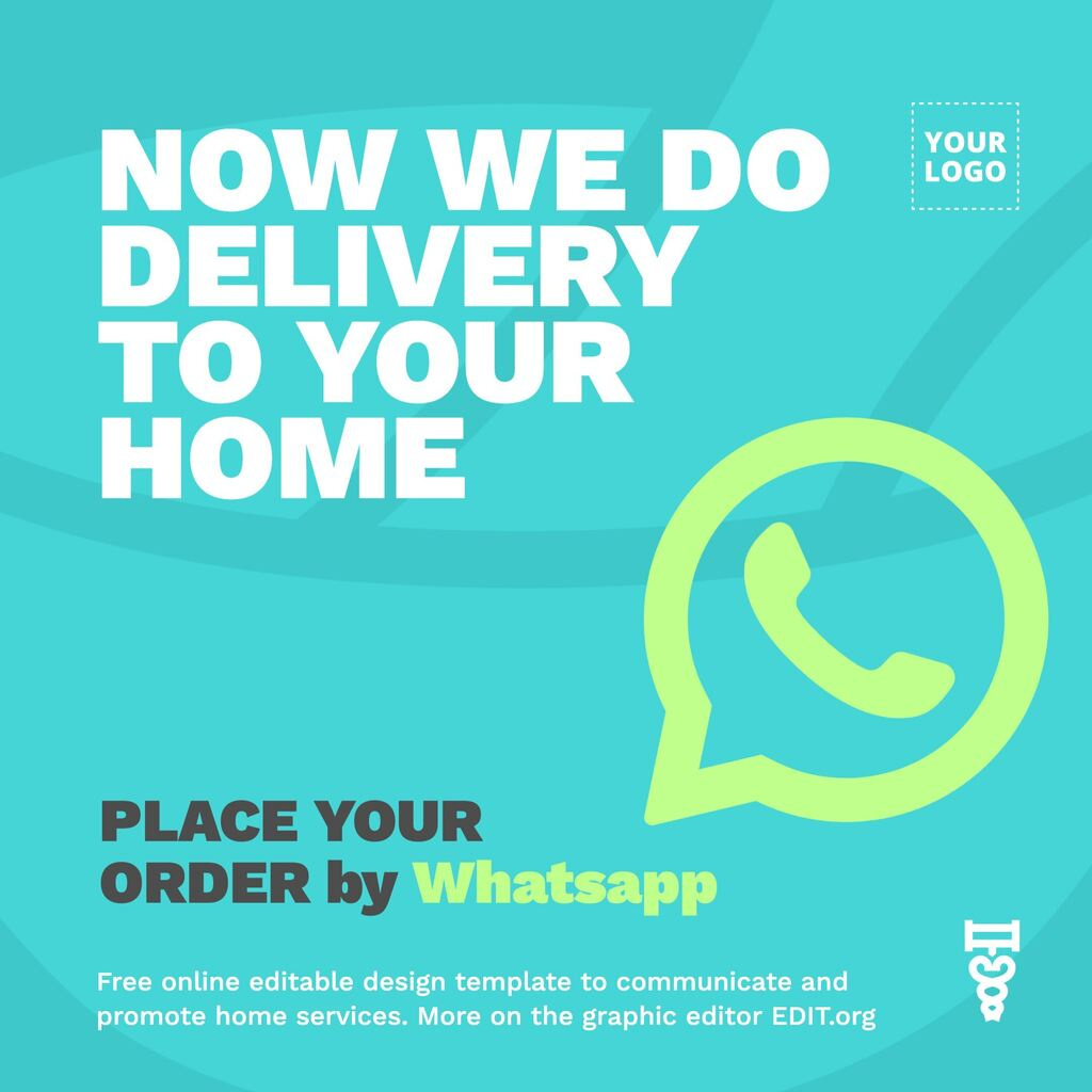 Order online with free delivery ad design template to edit online for free