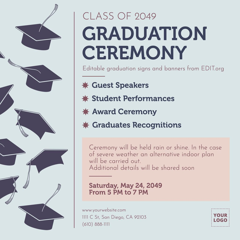 Ceremony Graduation templates to edit online for free