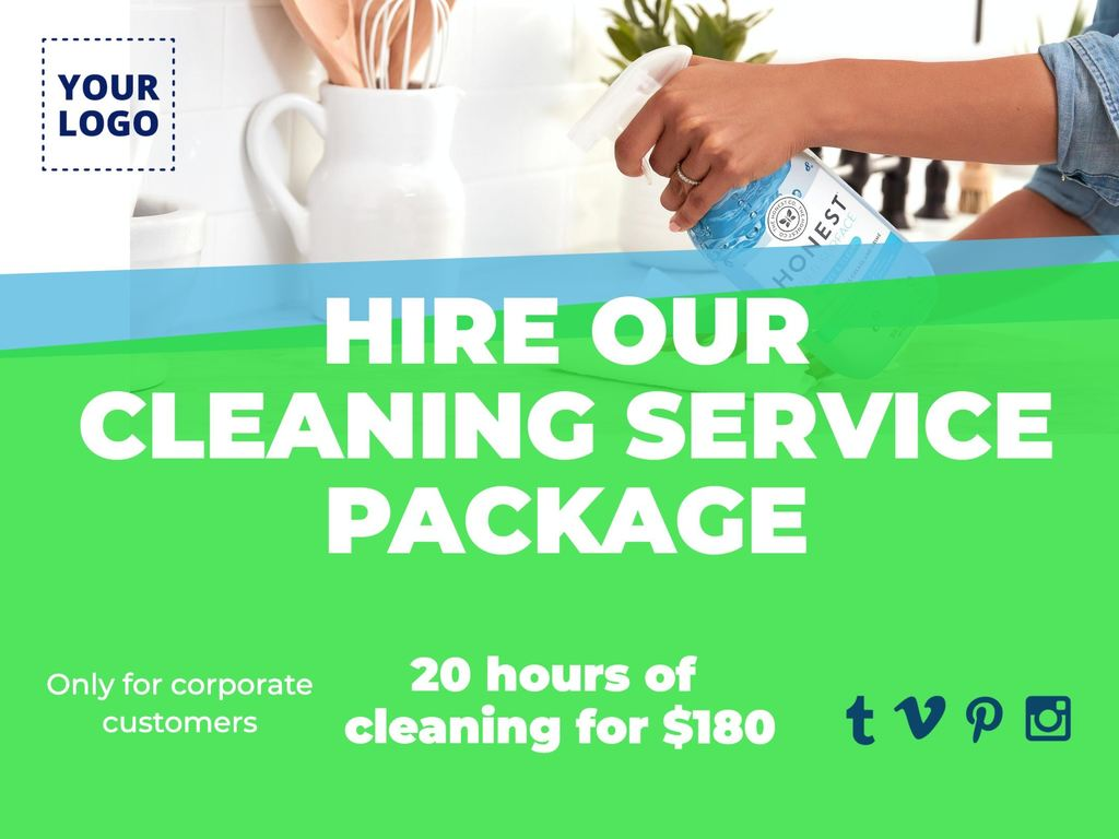 Contract a cleaning and disinfection package of hours template image to edit
