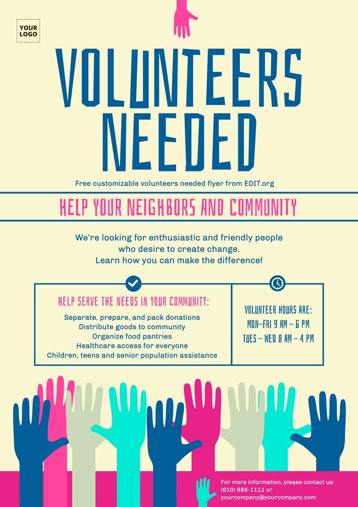 Custom poster about volunteerism online