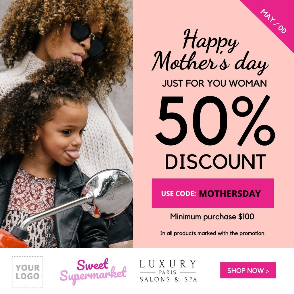 template offer for mothers day