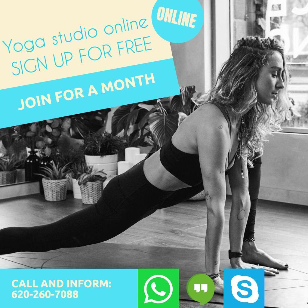 online yoga class instagram template