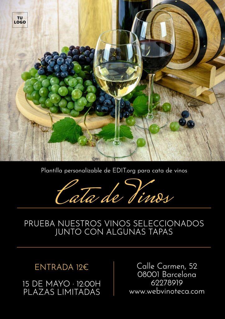 Plantillas para cata y degustación de vino y licores personalizables gratis
