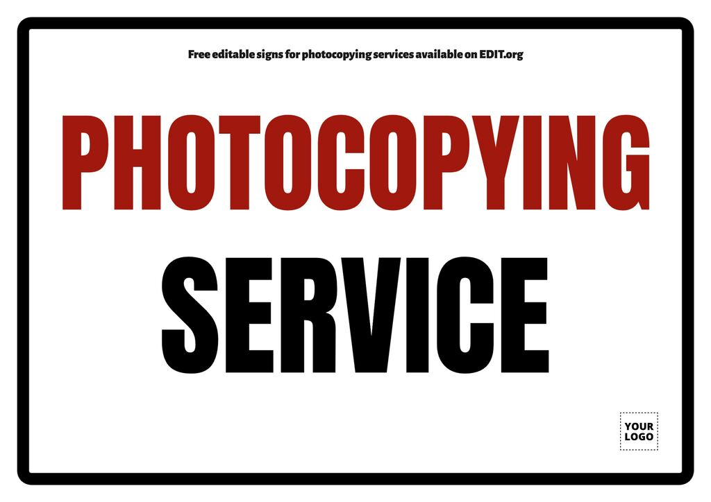 Customizable designs for print & copy services