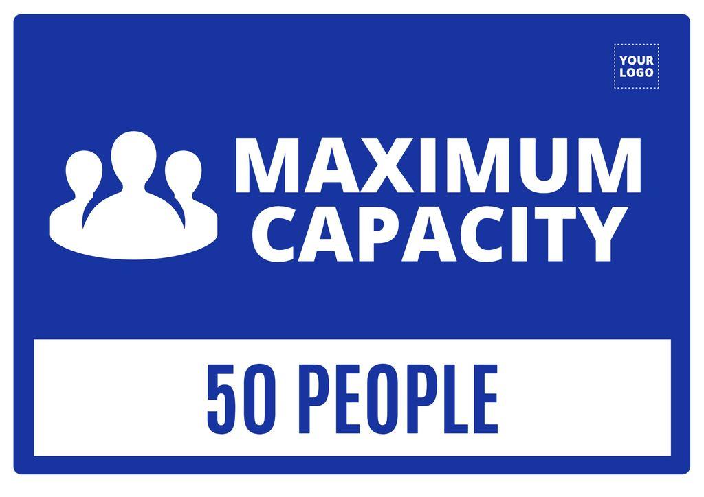 Maximum capacity poster template