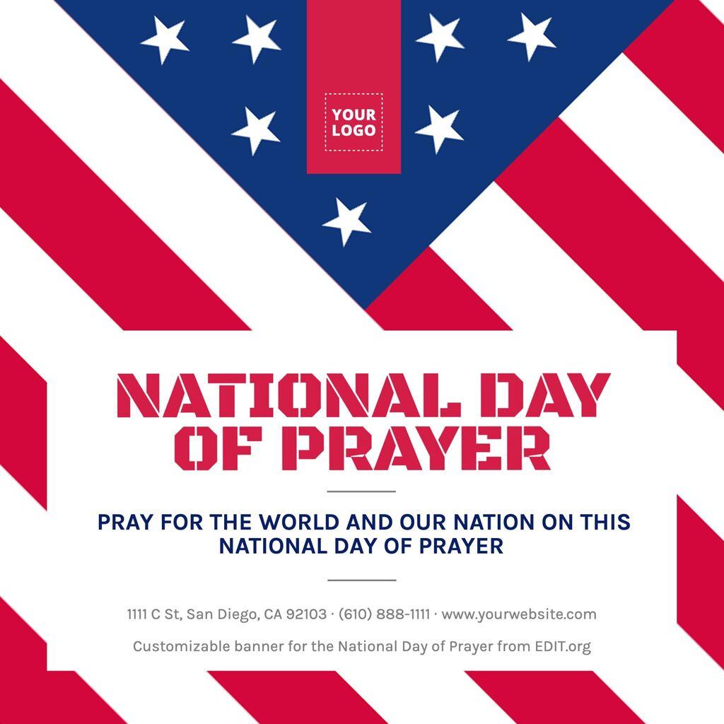 Free custom National Day of Prayer banner