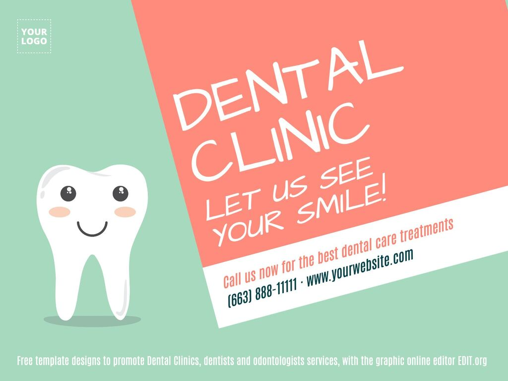 Dental Clinic free templates designs editable online for promotions
