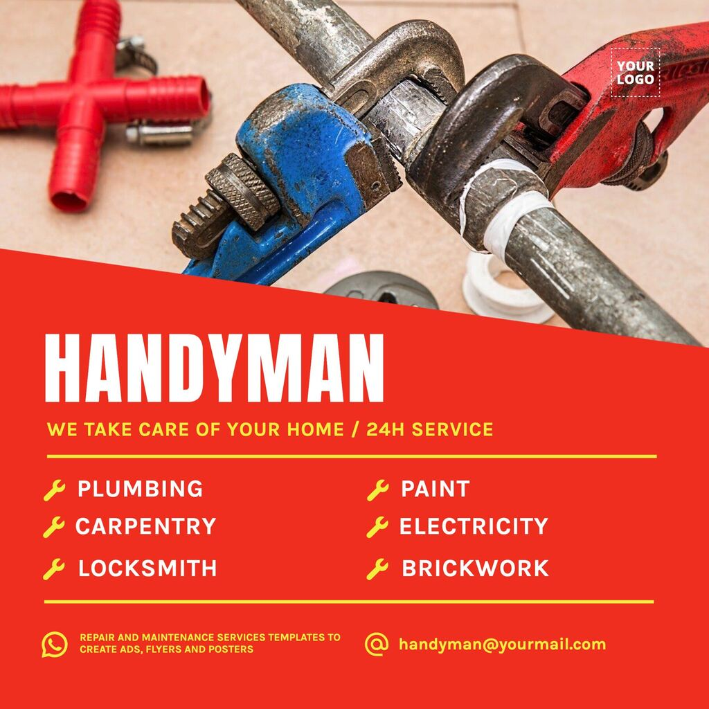 Online editable template for handyman services pricing list