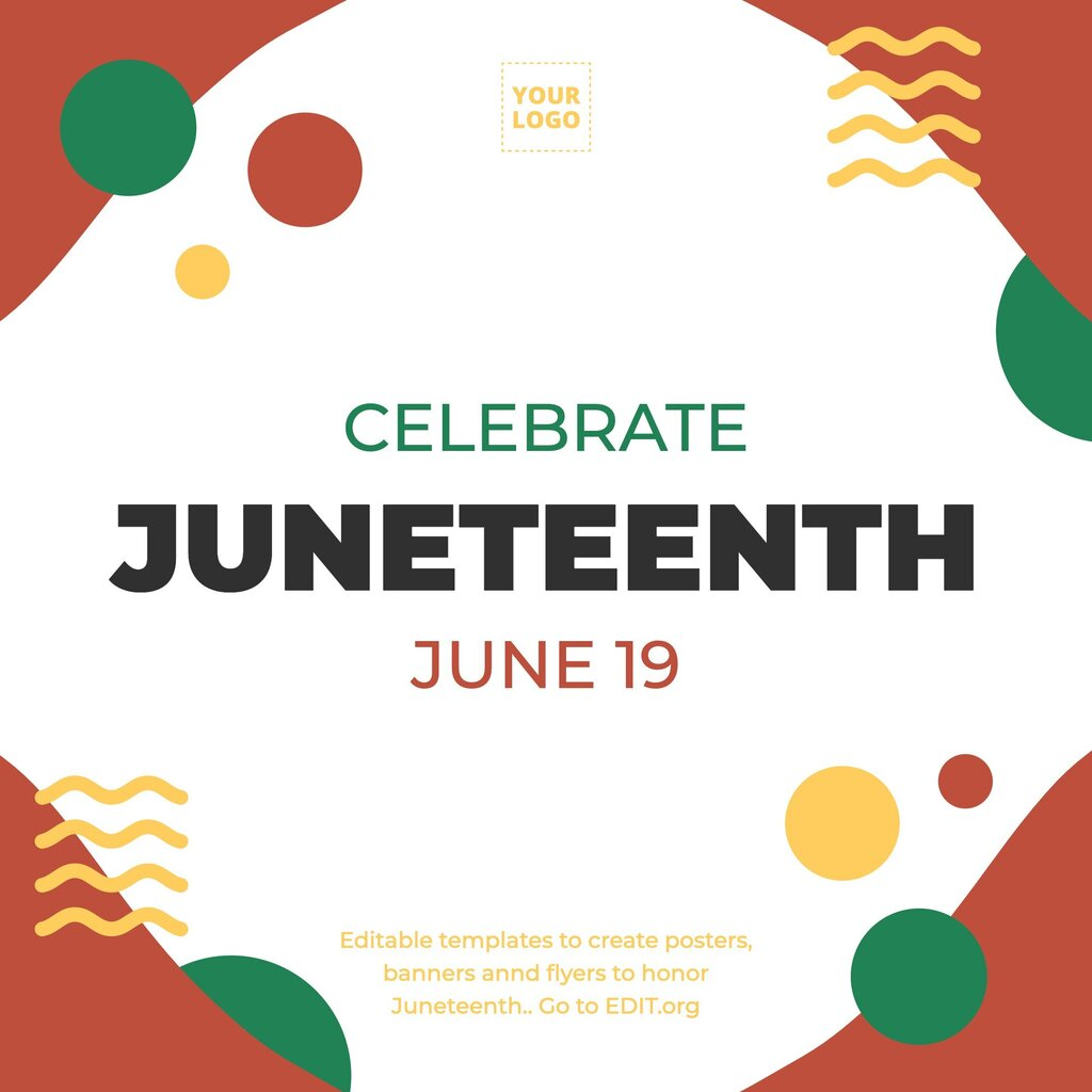 Juneteenth template to edit online for free