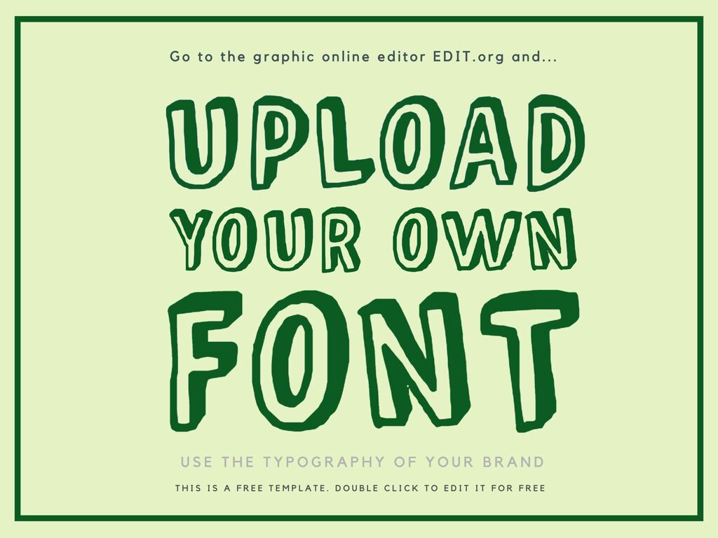 How to upload a font on the graphic online editor EDIT.org