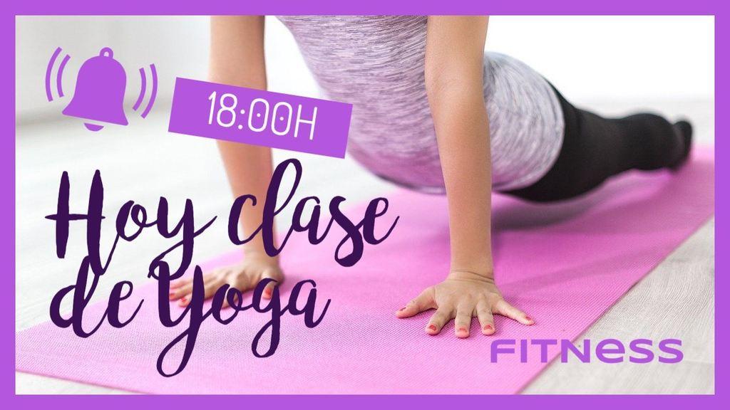 plantilla banner recordatorio clase yoga