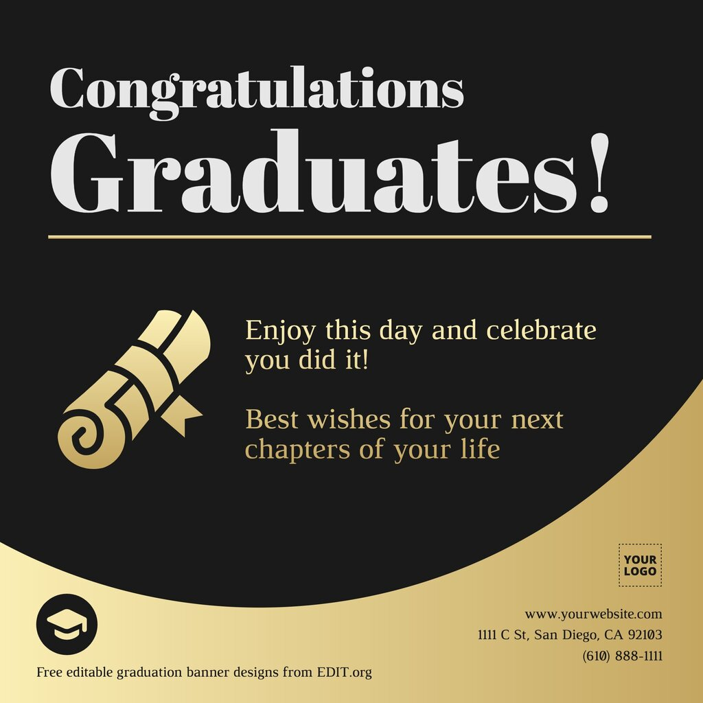 Free online graduation invitations and banners