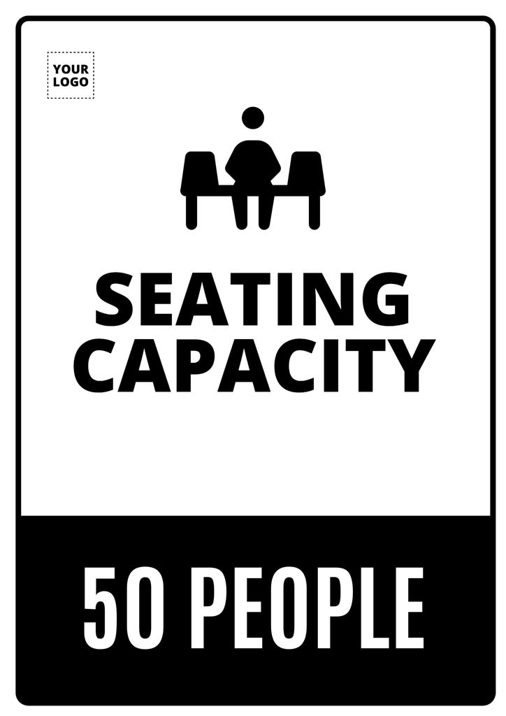Seating capacity poster template