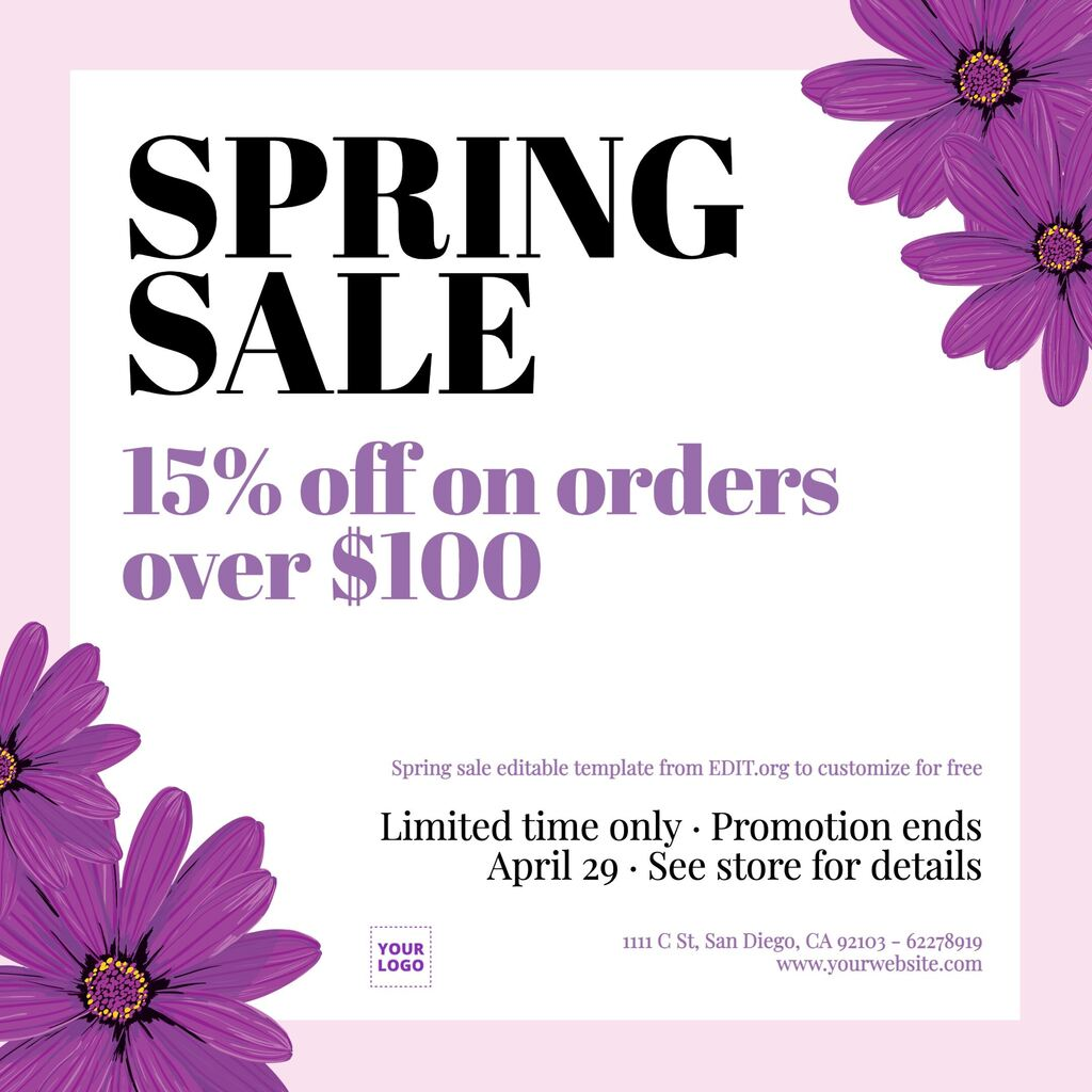 Spring cleaning sale images to customize for free