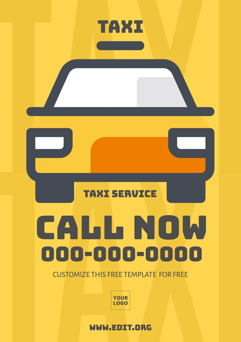 Taxi Service design template to custom online
