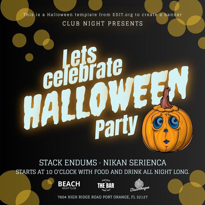 Customizable Halloween banner template