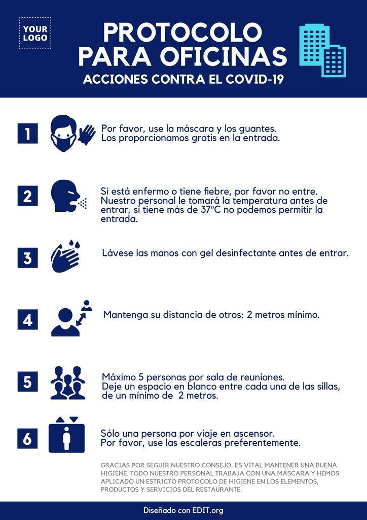 Protocolos y consejos covid para oficinas