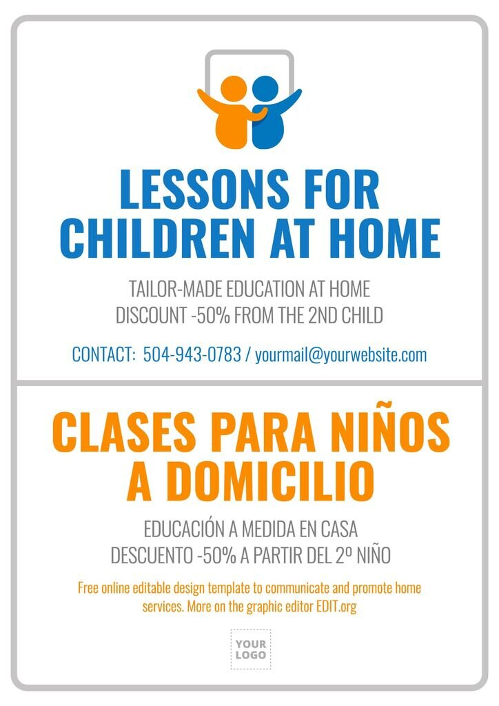 Home classes poster ad to edit online