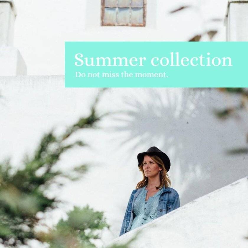 banner example template blue fashion