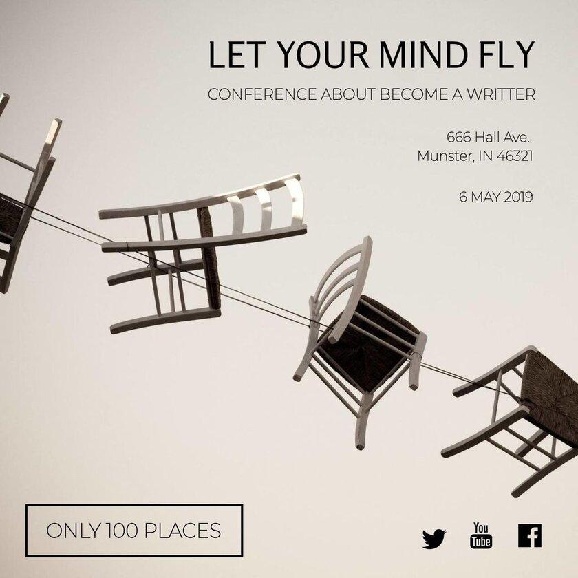 let your mind fly banner