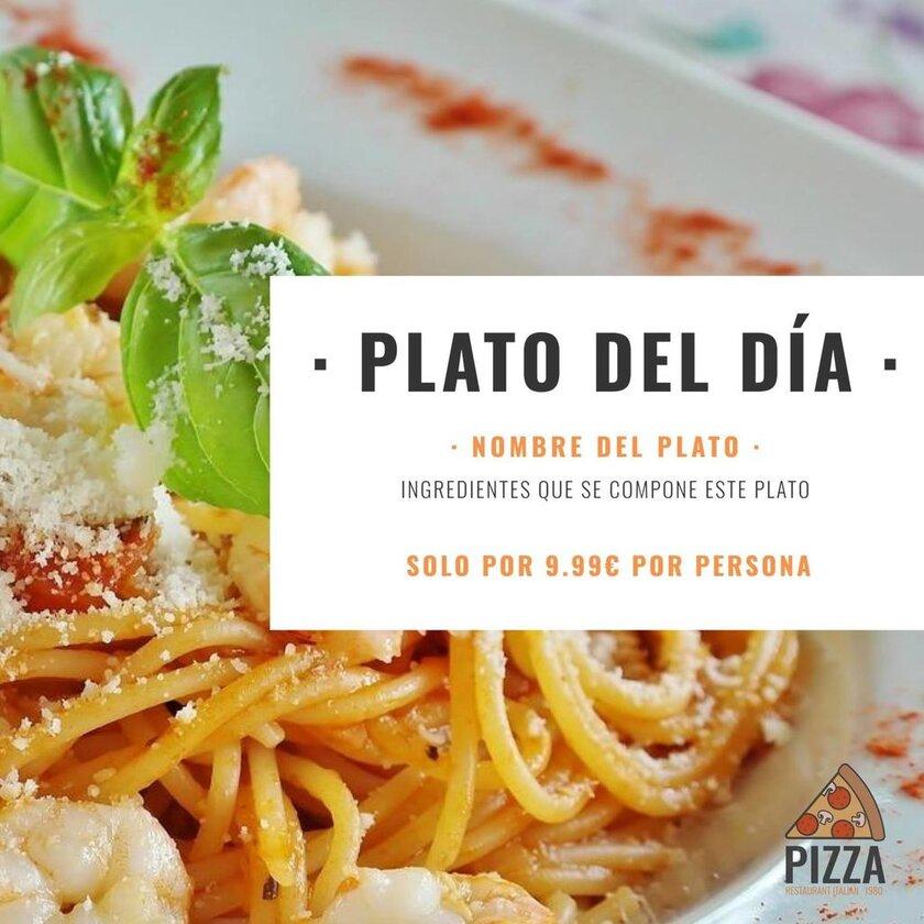 plantilla plato del dia italiano