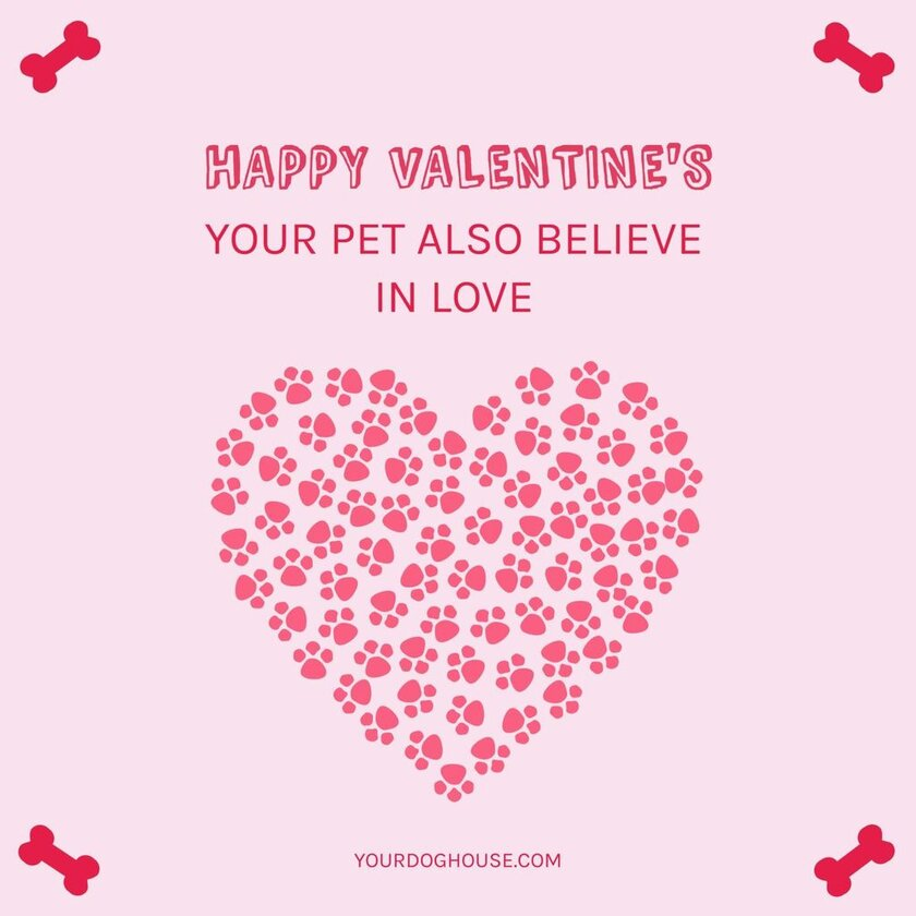 happy valentines template pet
