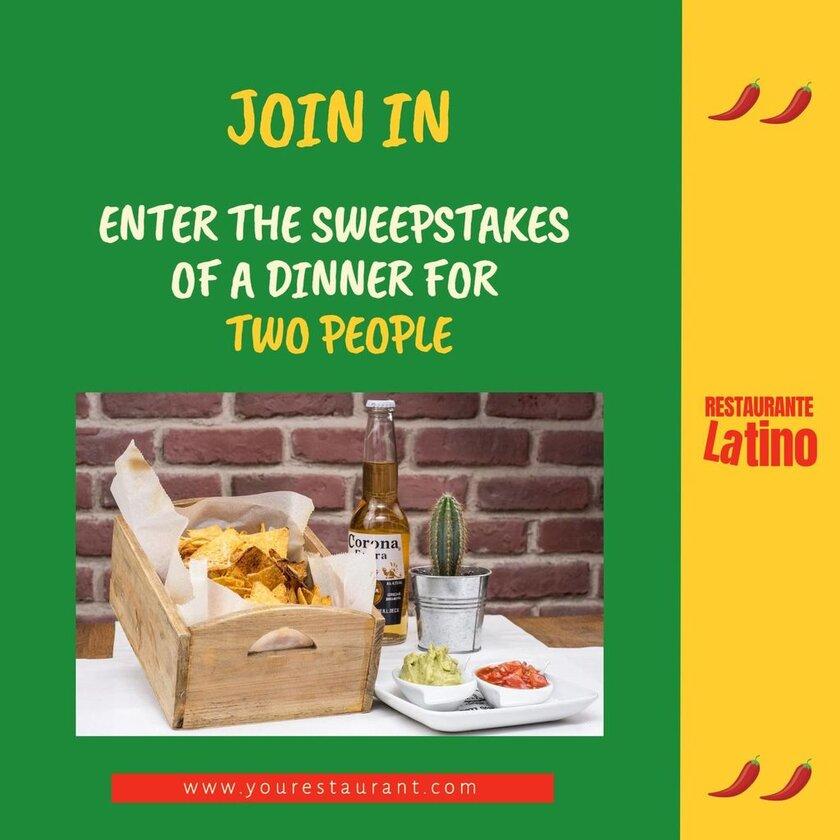 contest latin restaurant template