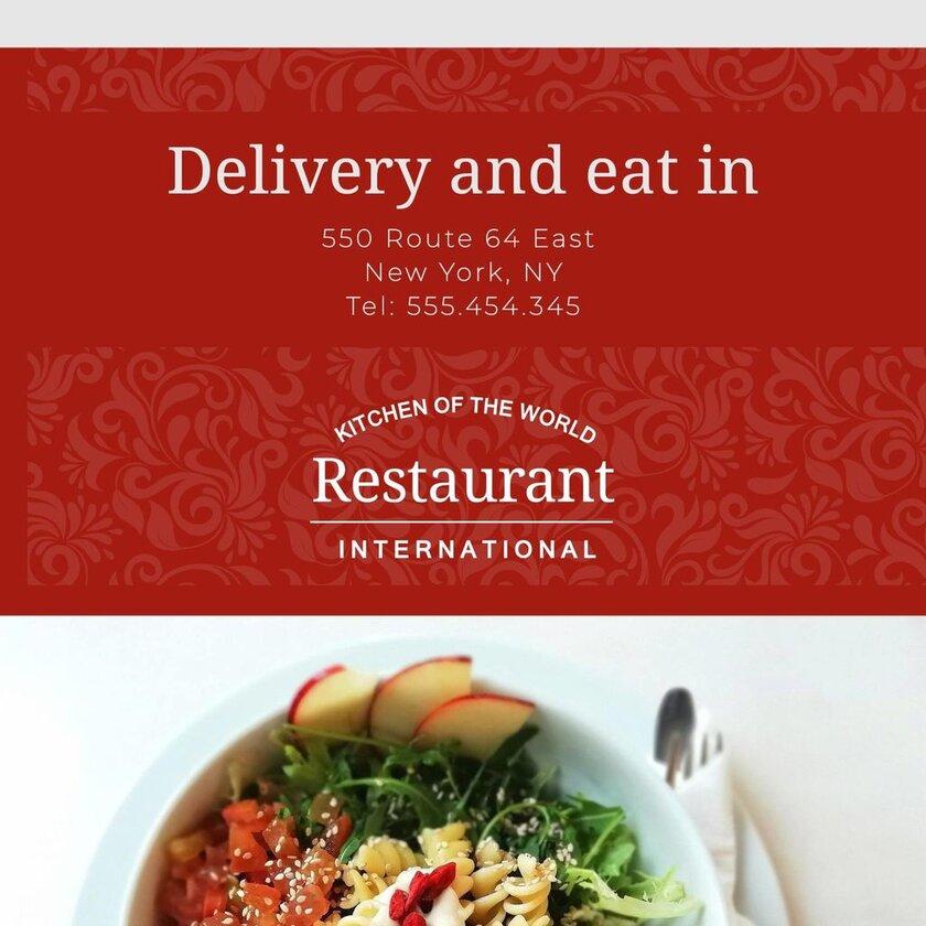 international restaurant template