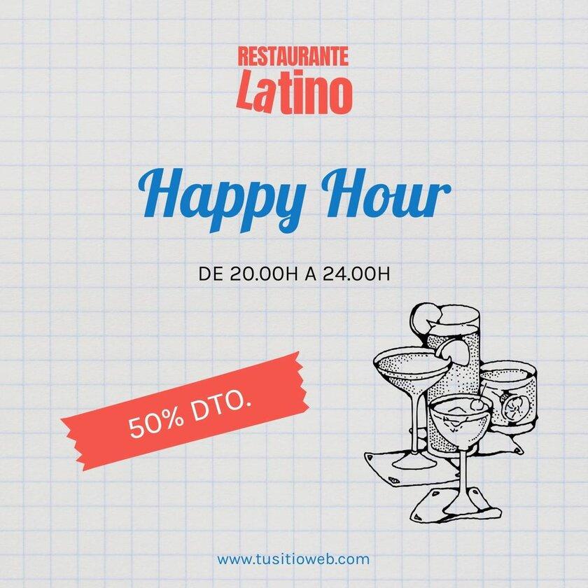 promocion happy hour plantilla