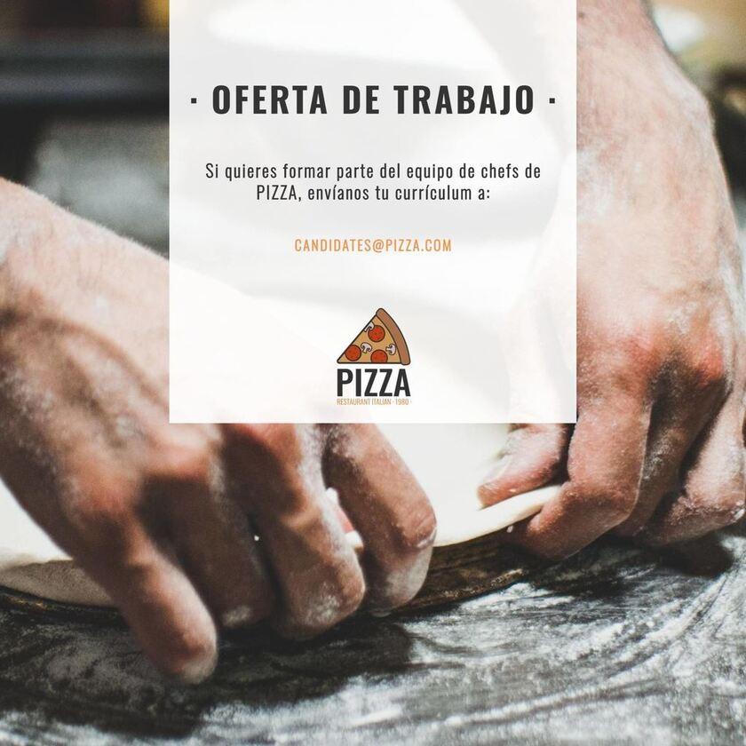 cartel se buscan candidatos pizza