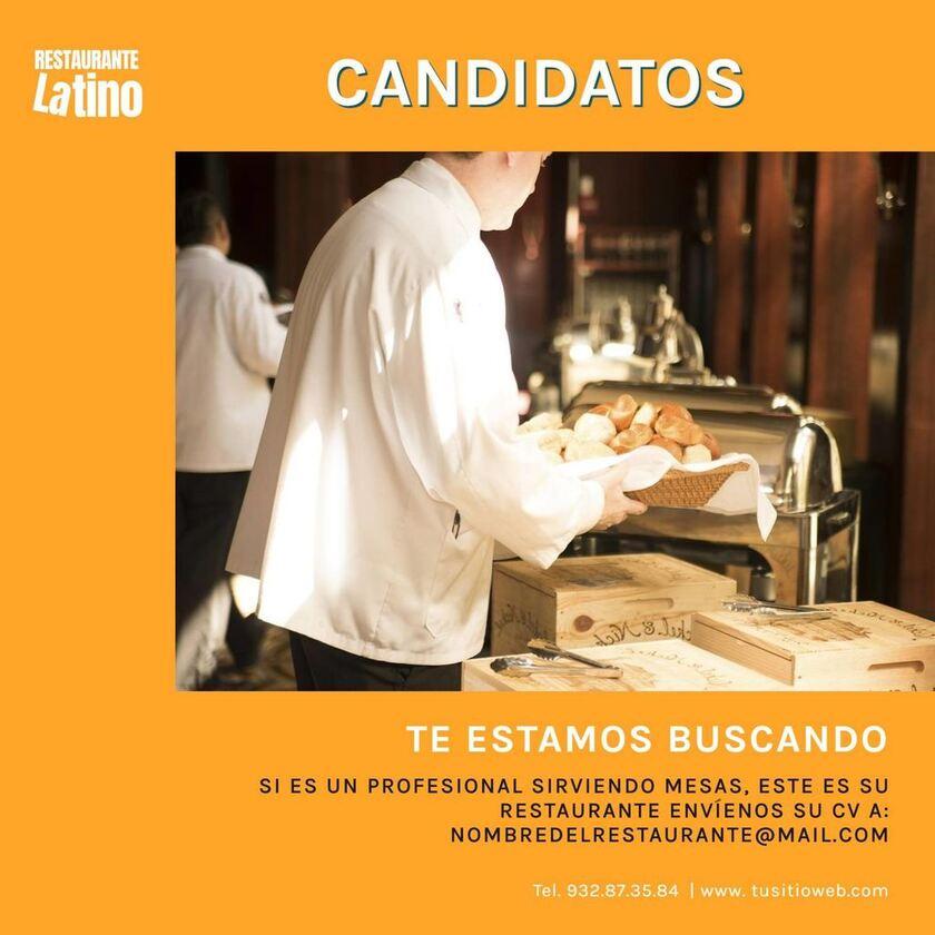 cartel candidatos puesto trabajo plantilla