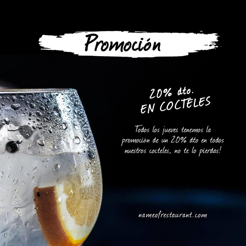 promocion cocktails plantilla