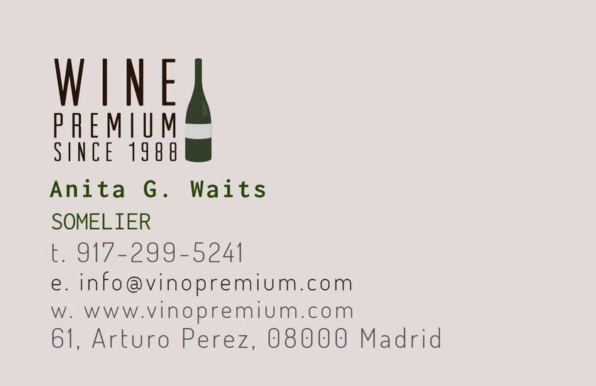 tarjeta visita vino