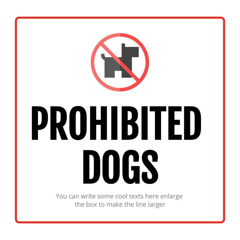 dogs prohibited template