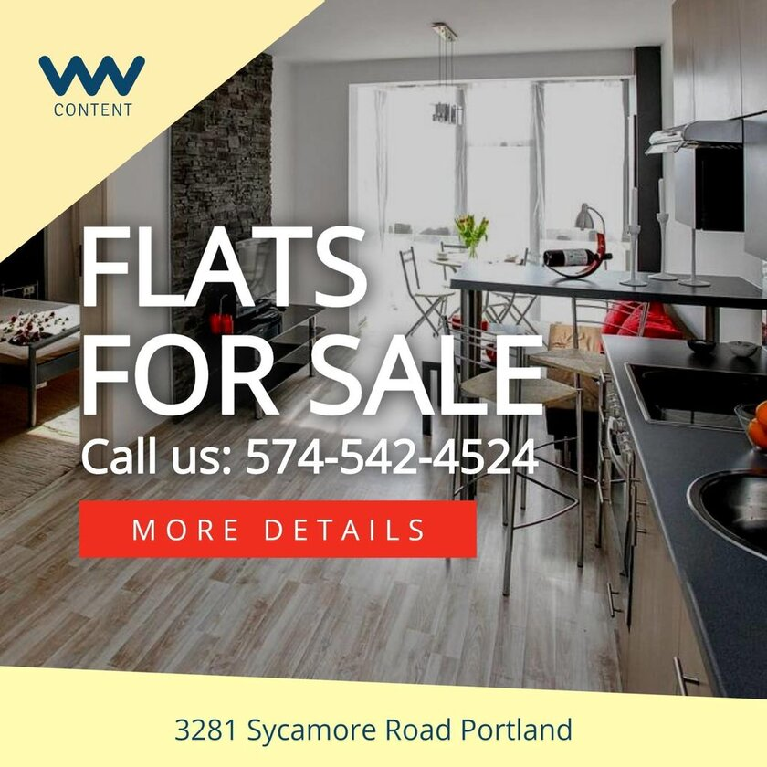 flats for sale banner sign template