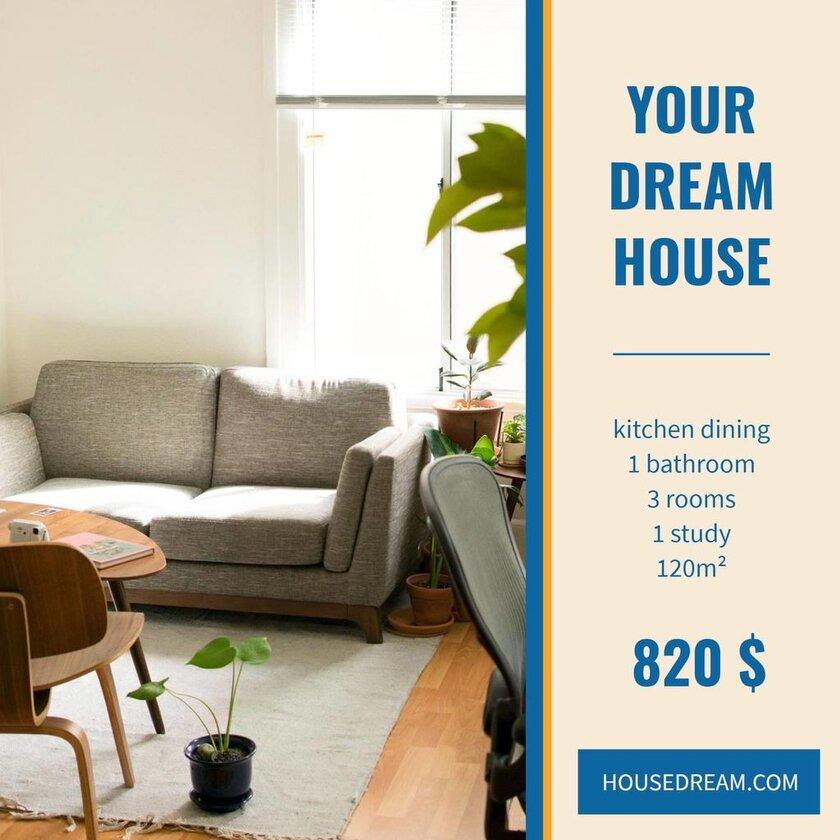 renting flat custom banner template