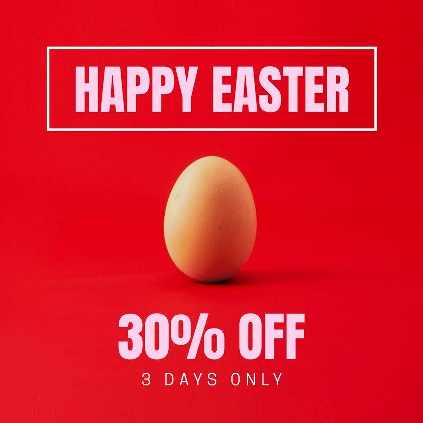 happy easter discount